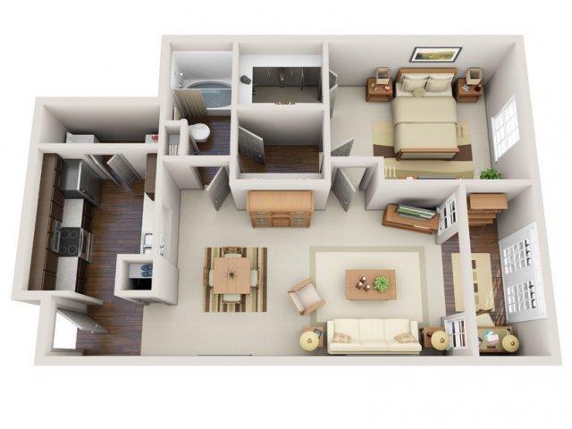 Floor Plans 14 | Deerwood Apartments