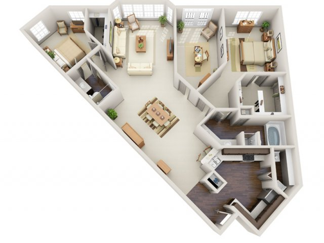Floor Plans 13 | Deerwood Apartments