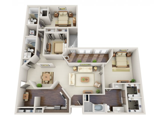 Floor Plans | Deerwood Apartments