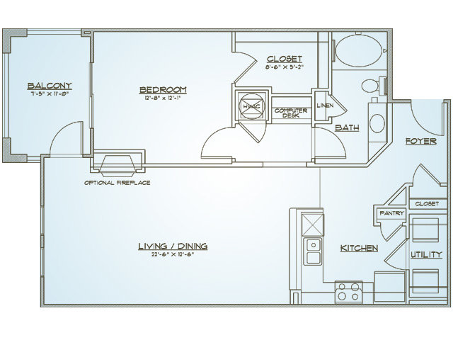 Floor Plan 3 | 1000 West