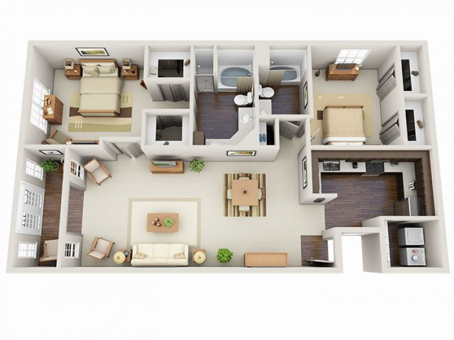 Floor Plans 15 | Deerwood Apartments