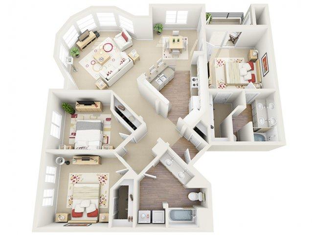 Floor Plan 4 | Luxury Apartment Santa Monica | AO Santa Monica