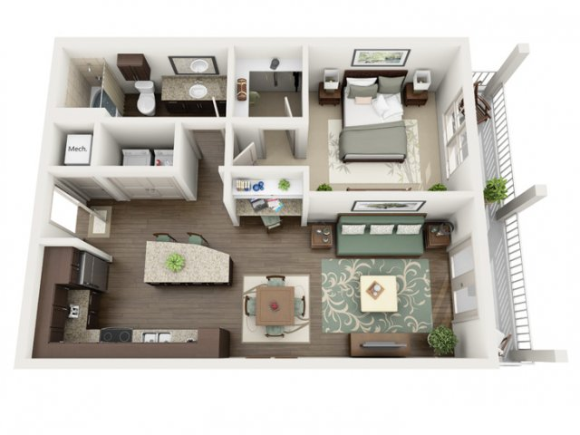 Indigo | 1 bed 1 bath | from 759 square feet