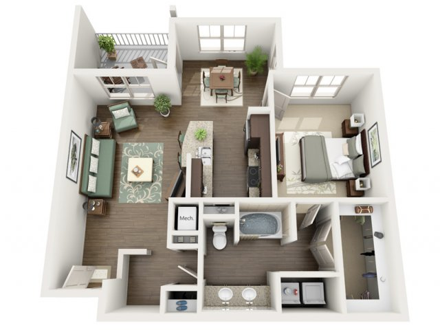 Midnight | 1 bed 1 bath | from 896 square feet