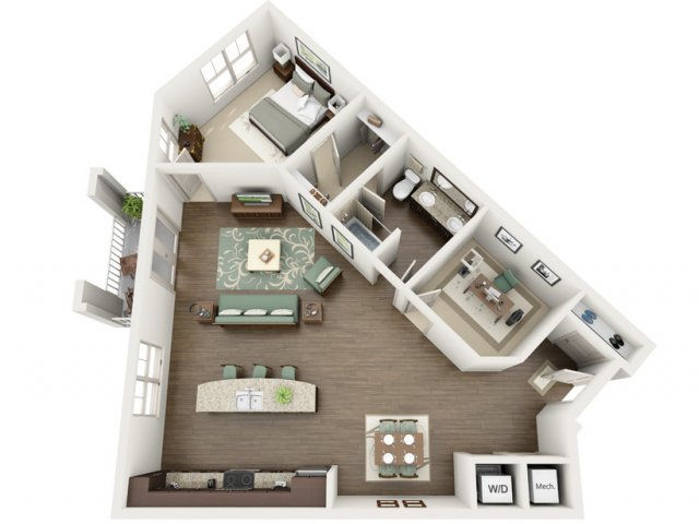 Mariner | 1 bed 1 bath | from 1118 square feet