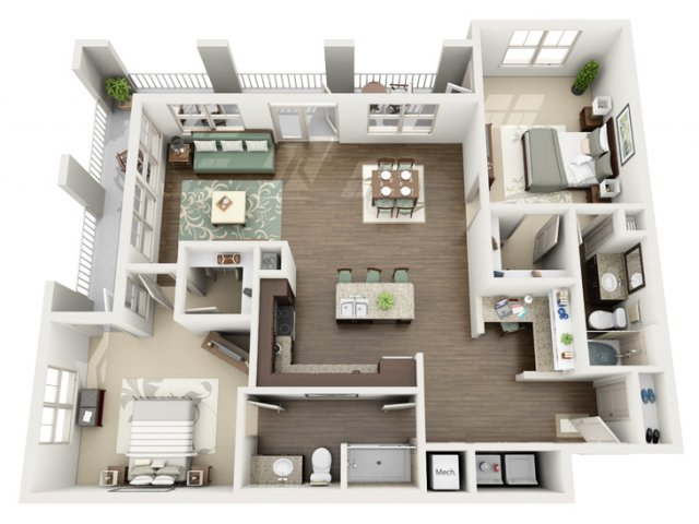 Royal | 2 bed 2 bath | from 1344 square feet