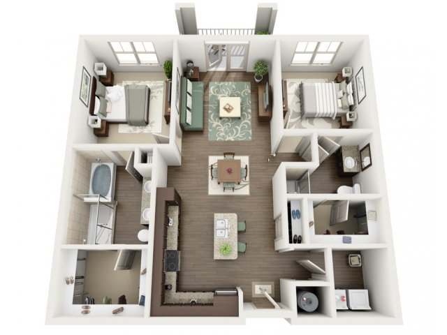 Riviera | 2 bed 2 bath | from 1173 square feet