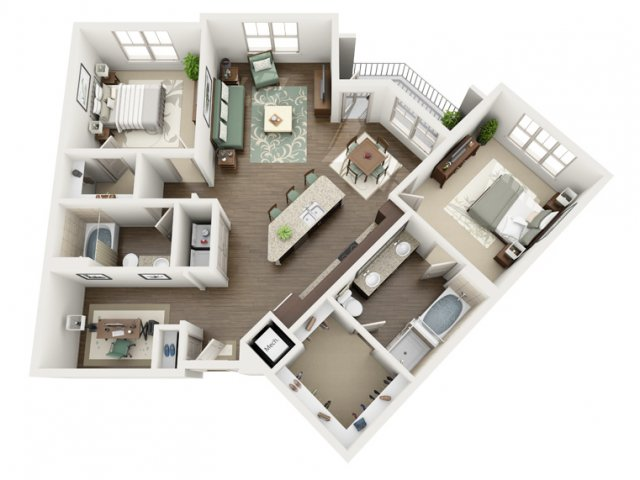 Cascade | 2 bed 2 bath | from 1324 square feet