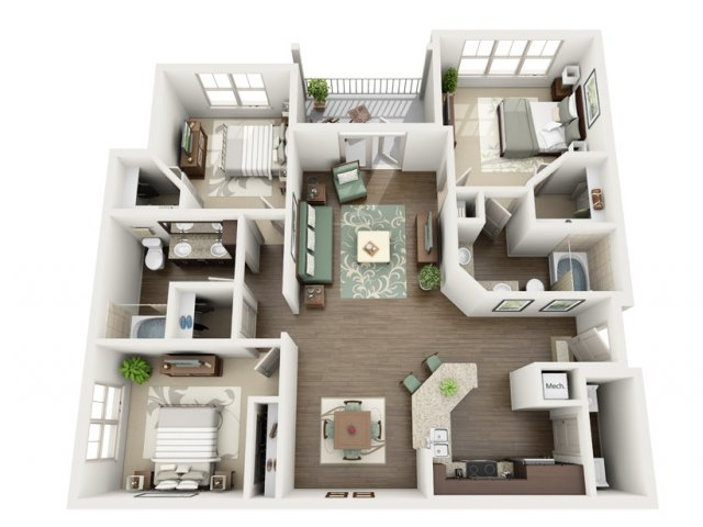 Azure | 3 bed 2 bath | from 1376 square feet