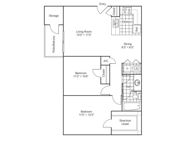 Floor Plan 2 | 8500 Harwood