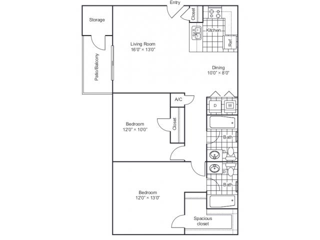 Floor Plan | 8500 Harwood