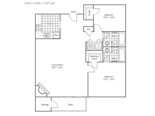 Floor Plan 3 | 8500 Harwood