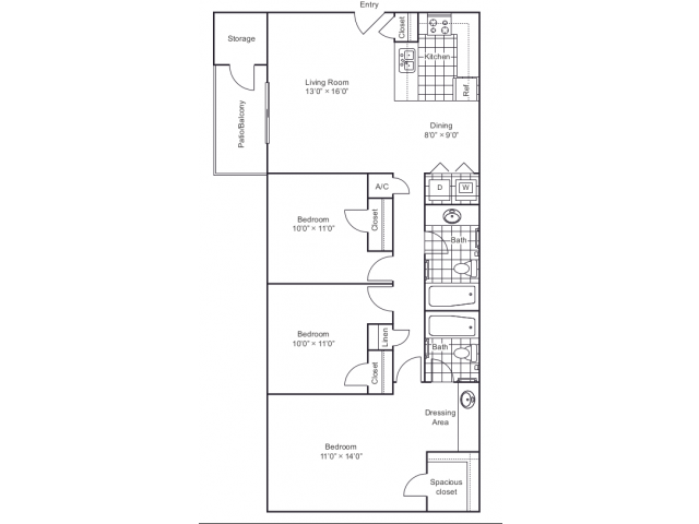 Floor Plan 4 | 8500 Harwood