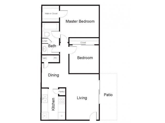 Floor Plan 2 | Greenhouse Apartments