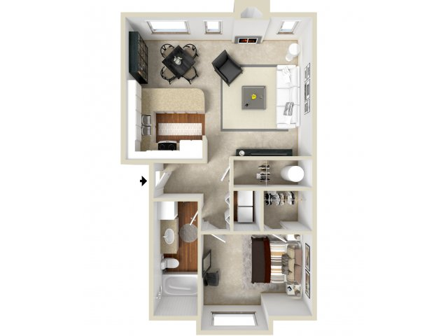Floor Plan 6 | Apartments In Vancouver WA | Golfside Village