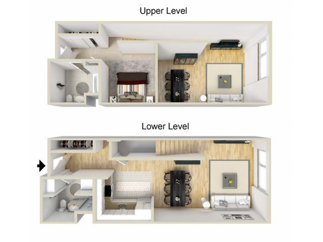 1 Bedroom Floor Plan | Museum Place4