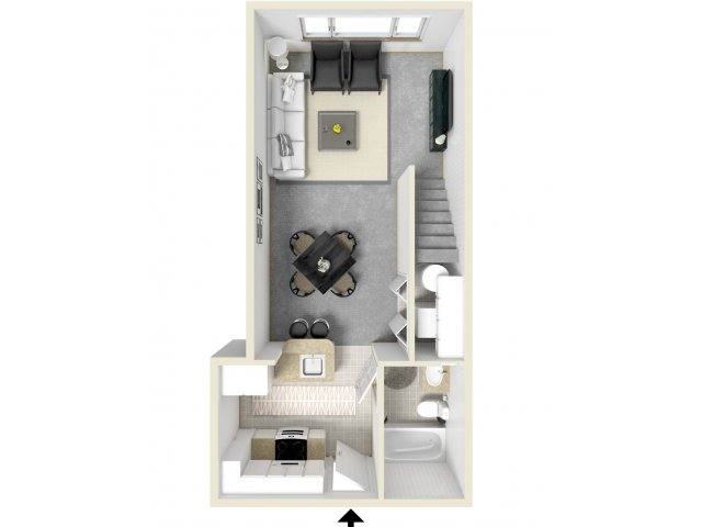 Floor Plan 4   Luxury Apartments In Tempe AZ   Tempe Metro