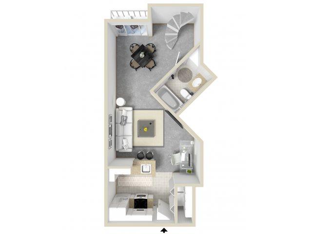 Studio Floor Plan   Tempe Metro
