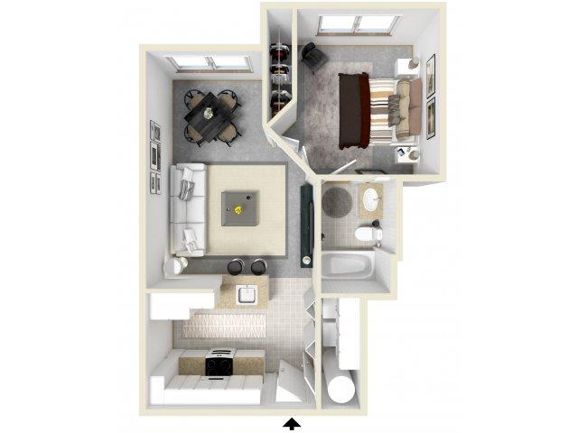 1 Bedroom Floor Plan   Luxury Apartments In Tempe   Tempe Metro
