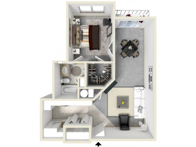 1 Bdrm Floor Plan   Tempe Apartments   Tempe Metro