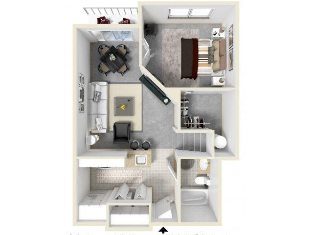 Floor Plan 10   Luxury Apartments Tempe AZ   Tempe Metro