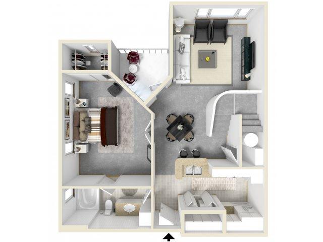 Floor Plan 14   Luxury Apartments In Tempe AZ   Tempe Metro