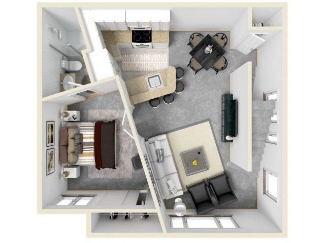 3 Bedroom Floor Plan   Luxury Apartments Tempe AZ   Tempe Metro