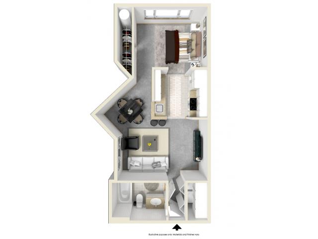 Floor Plan 3   Tempe AZ Apartments   Tempe Metro