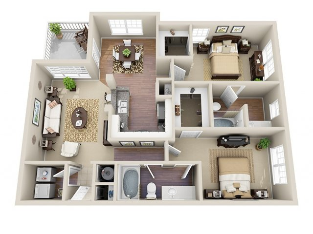 Floor Plan 6 | Dunwoody Place Apartments 2