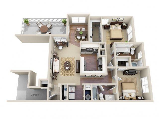 Floor Plan 7 | Dunwoody Place Apartments 2