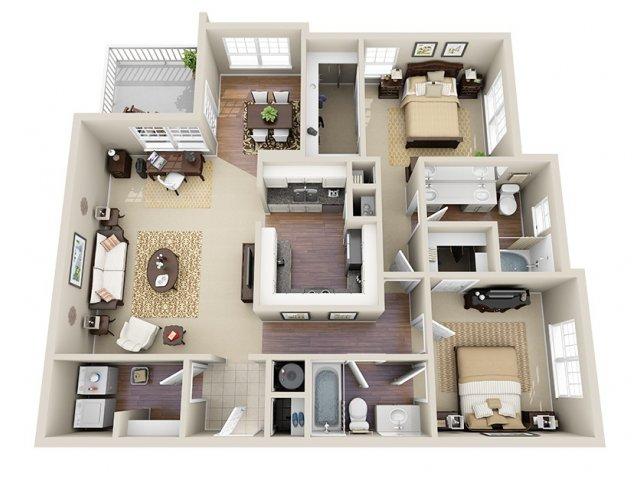 Floor Plan 8 | Dunwoody Place Apartments 2