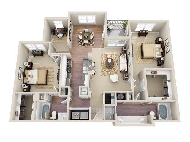 Floor Plan 9 | Dunwoody Place Apartments 2