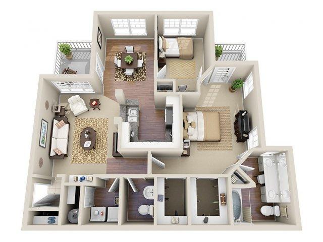 Floor Plan 5 | Dunwoody Place Apartments 2