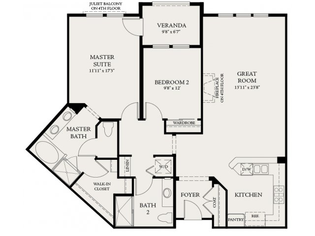 Floor Plan 2 | The Carlyle at Colton Plaza