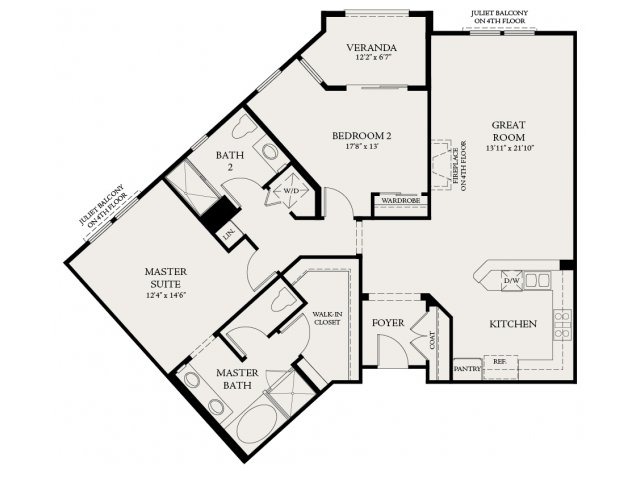 Floor Plan 3 | The Carlyle at Colton Plaza