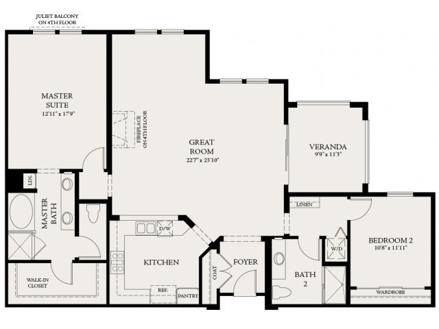 Floor Plan 4 | The Carlyle at Colton Plaza