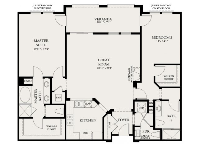 Floor Plan 5 | The Carlyle at Colton Plaza