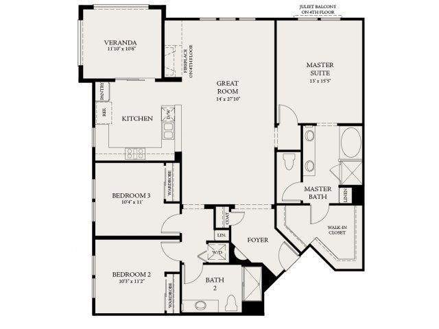 Floor Plan 7 | The Carlyle at Colton Plaza