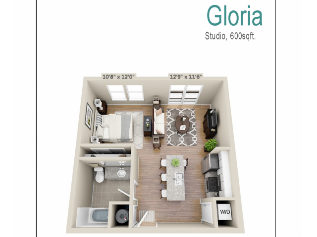 Floor Plan 2 | Mount Pleasant SC Apartments | Riviera at Seaside