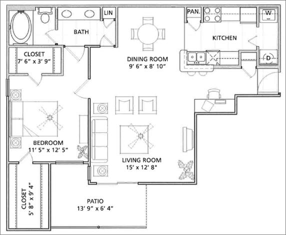 Floor Plan   Vail Quarters 2