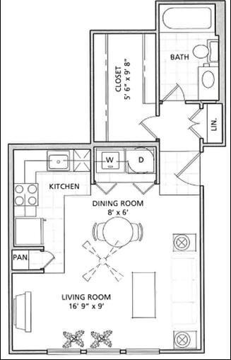 Studio Floor Plan   Vail Quarters 2