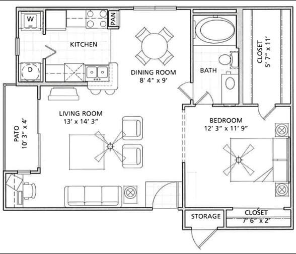 Floor Plan 2   Vail Quarters