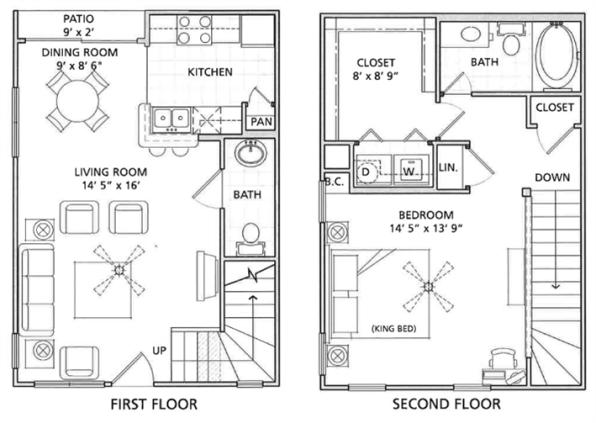 Floor Plan 5   Vail Quarters 4