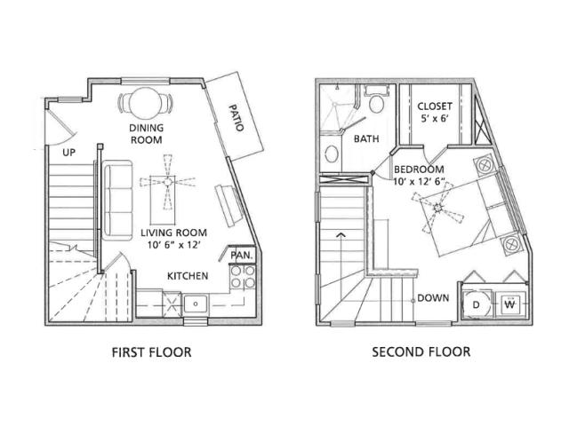 1 Bedroom Floor Plan   Vail Quarters 2