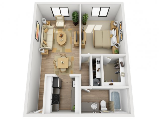 1 Bedroom Floor Plan | Village 185