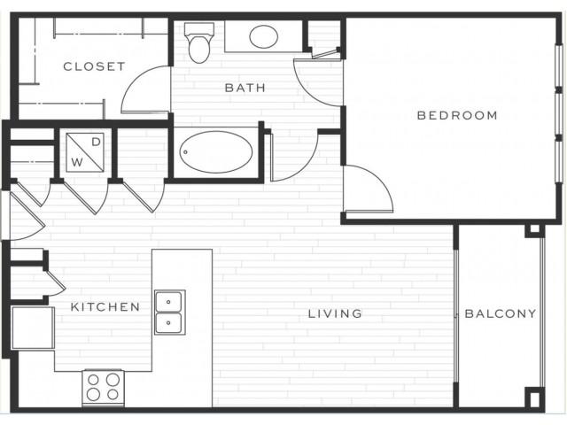 1 Bedroom Floorplan | Luxe Scottsdale