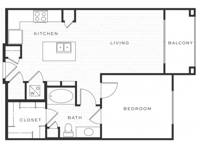 1 Bedroom Floorplan | Luxe Scottsdale 2