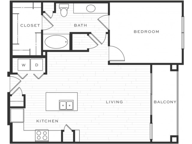 1 Bedroom Floorplan | Luxe Scottsdale 3
