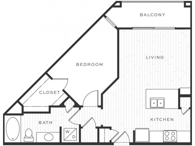 1 Bedroom Floorplan | Luxe Scottsdale 5