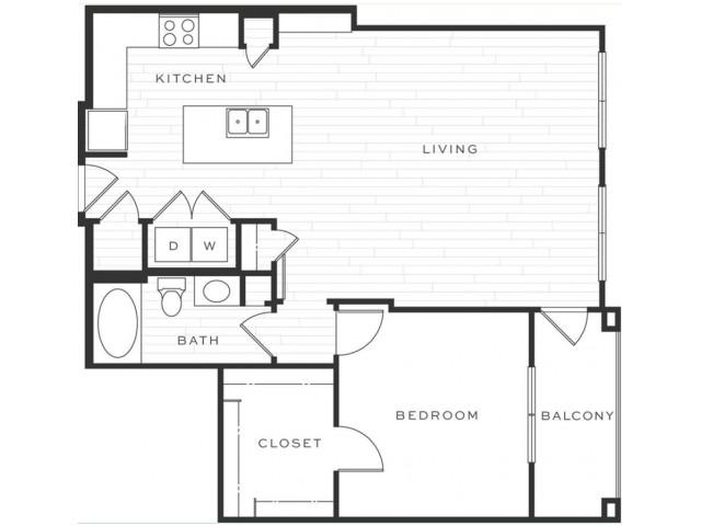1 Bedroom Floorplan | Luxe Scottsdale 8